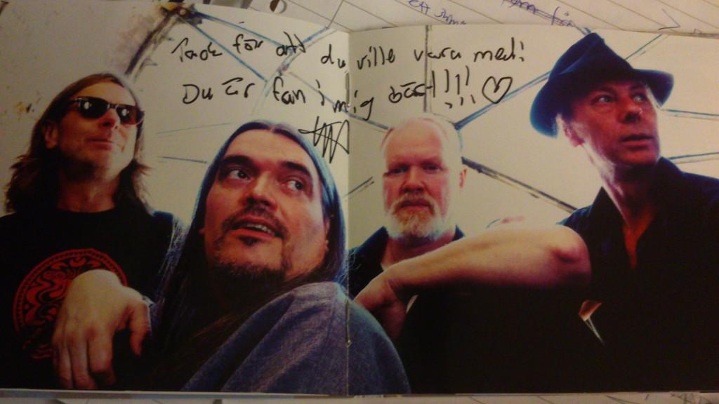 Skriet, med Ulvens autograf på :) Foto: Christer Fischier