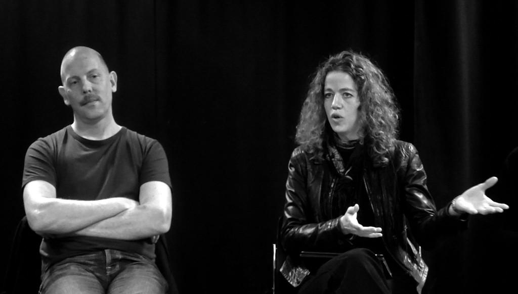 Lucas Stark och jag i panelen. Foto: Gun Hemström.